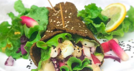 Wrap aux Graines de Lin  Sans Gluten et vegan