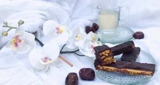 Barres Glacées Sans Gluten Vegan et Crues Carawmel-Chocolat
