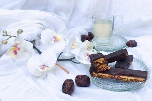 barres glacées au carawmel chocolat et noisettes